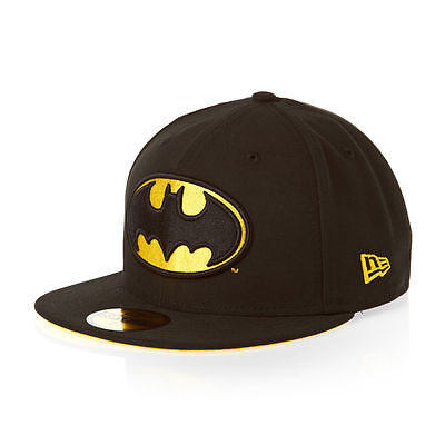 Batman New Era 59Fifty Character Badge Fitted Baseball Cap Black Size 6 7/8