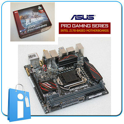 Placa base mITX Z170 ASUS Z170i PRO GAMING Socket 1151 con Accesorios