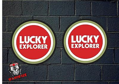 Pegatina Sticker Autocollant Adesivi Aufkleber Decal  2 X Lucky Explorer