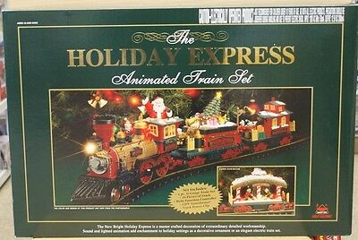 New Bright HOLIDAY EXPRESS Electric Animated G scale Train Set Ready-to-Run 0380