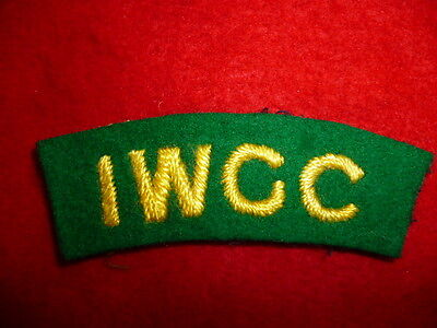 """""""I.W.G.C."""" Imperial War Graves Commission Embroidered Cloth Shoulder Title"""