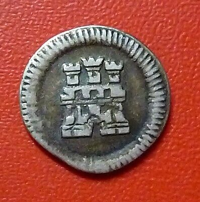 PHILIPPINES SILVER COIN ¼ Real, KM4 XF 1790 (Spanish Dominion)