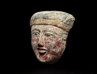 EX SOTHEBY'S 1969 Ancient Egyptian Sarcophagus Mask Late Period 664 BC
