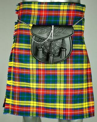 Modern Buchanan Tartan Scottish Traditional New Men Kilts