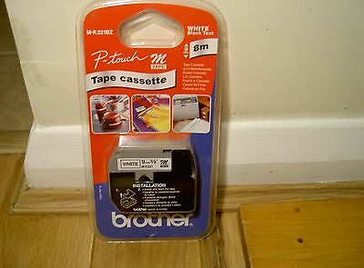 Brother m-k221bz p-touch tape cassette