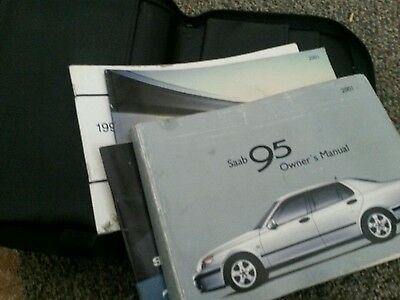 2001 saab 9-5 Owners Manual and booklets with  case