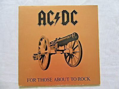 AC/DC For Those About To Rock We Salute You 1981 Atlantic US Press Masterdisk EX