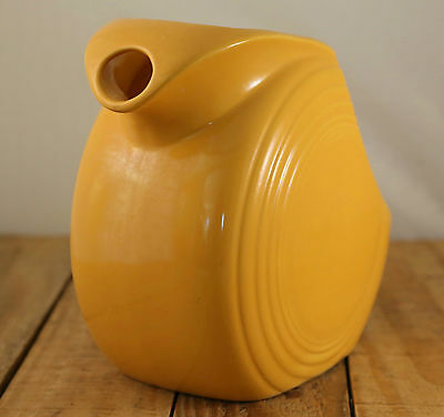 "Fiesta Yellow Harlequin Juice Pitcher 5 7/8"" Vintage Round"