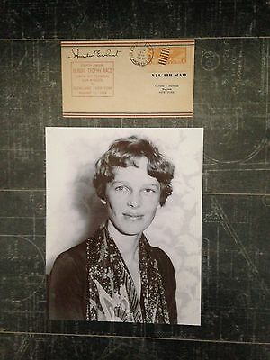 Amelia Earhart Signed, Addressed, First Day Cover with Photo