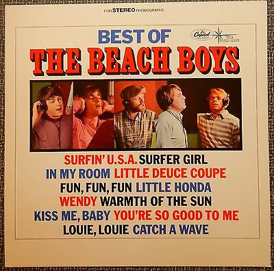 Best of The Beach Boys CD Album Slick Record Store Promo Poster Display Card