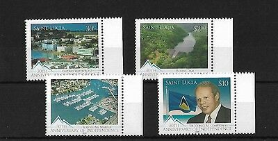 St Lucia 2009 Independence Anniversary, Mnh, Sg1376/9, Cat £12+