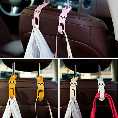 Multi Use Universal Car Back Seat Hanger Holder Hook for Grocery Tools 2Pcs
