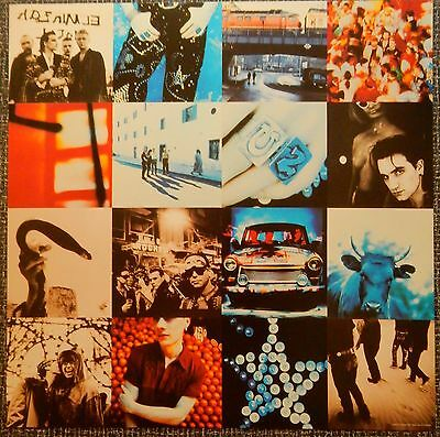 U2 Achtung Baby 1991 CD Album Slick Record Store Promo Poster Display Card NM