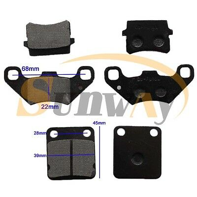 Front + Rear Brake Pad For Bashan BS200S-7 200cc BS250S-11B Quad Bike ATV