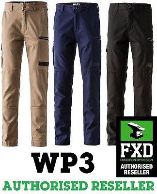 Fxd Work Pants Wp3 Wp-3 Workwear Cotton Stretch Brand New Tradies Pants Navy