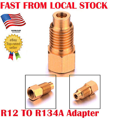 "R-12 to R-134a Quick Connect Coupler Air Adapter Conversion 1/4""Female 1/2"" Male"