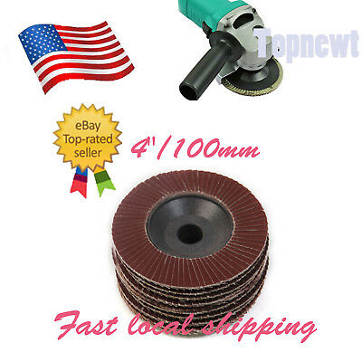 "10 x 4"" /100mm 80 Grit Flap Sanding Disc Quick Change Grinding for Angel Grinder"