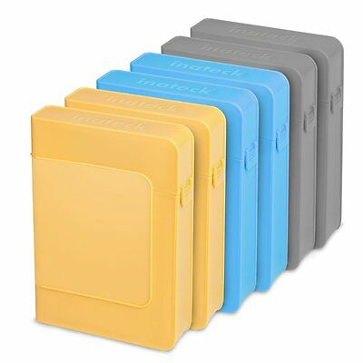 Inateck 6X 3.5 Inch Anti-Static Hard Disk Drive HDD Protective Box External Case