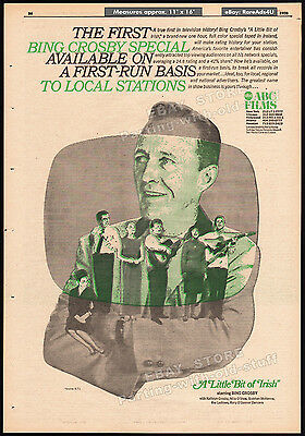 THE BING CROSBY SPECIAL - A Little Bit of Irish__Original 1970 Trade AD / poster