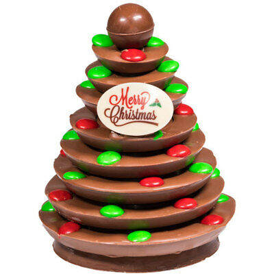New M&M Christmas Tree chocogram gifts her him christmas Chocolate Xmas