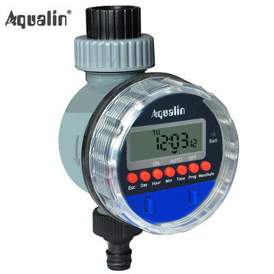 Garden Water Tap Timer LCD Ball Valve Automatic Electronic Irrigation Controller