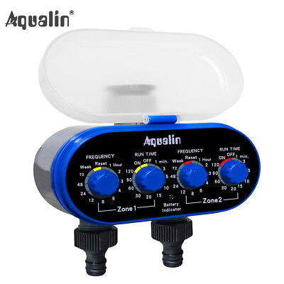 Ball Valve Two Outlet Electronic Water Tap Timer Garden Irrigation System