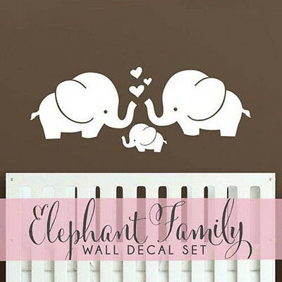 Wall Decal Elephant Family Wall Art for Nursery - Elephant Family Stickers