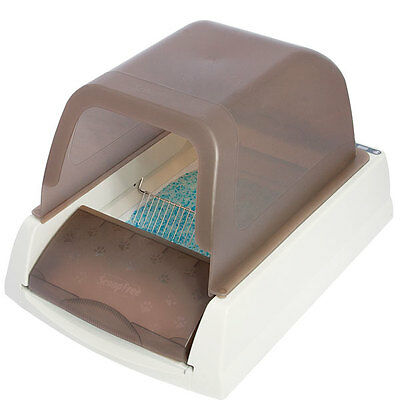 ScoopFree Ultra Automatic Self Cleaning Brown Litter Box with 30 day Supply