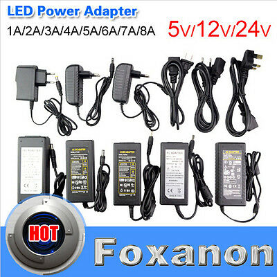 DC 5V 12V 24V Power Supply Adapter  2A 3A 5A 8A AC110 220V Transformer LED Strip