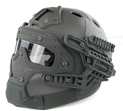 Tactical Protective Googles G4 System Full Face Mask Helmet Molle Paintball FG