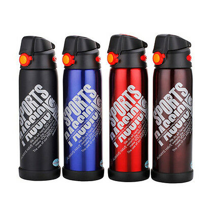 Stainless Steel Sports Insulated Thermos Flask Vacuum Water Bottle Travel Mug