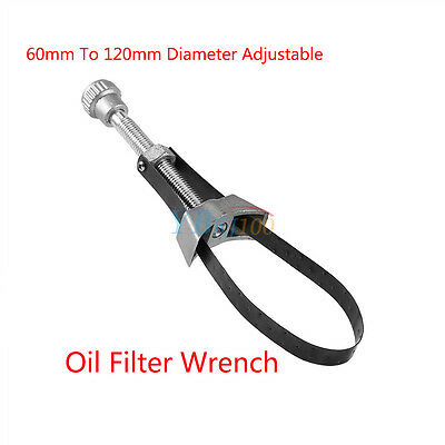 Car Oil Filter Removal Tool Strap Wrench 60-120 mm Diameter Adjustable Aluminium