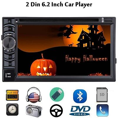 "Double 2Din 6.2"" Head Unit Car Stereo DVD CD mp3 Player Bluetooth Radio USB SD"