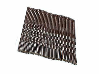 36 Brown Hair Grips Kirby Grips Hair Slides Clips Bobby Pins 4.5cm
