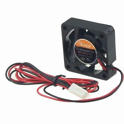 XYCP 12V 2Pin 40mm x 40mm x 10mm Brushless 3D Printer DC Cooling Fan 150cm Cable