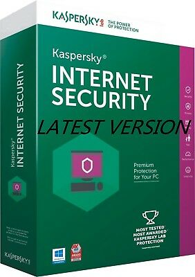 Kaspersky Internet Security 2017-2018 3 PC 1 Year AUS NZ License Key Only Window