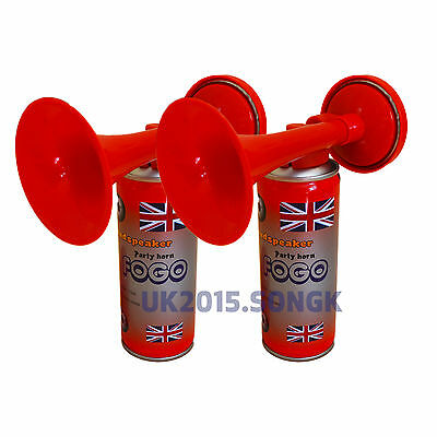 2x Gas Air Horn Hand Held Football Sport Event Loud