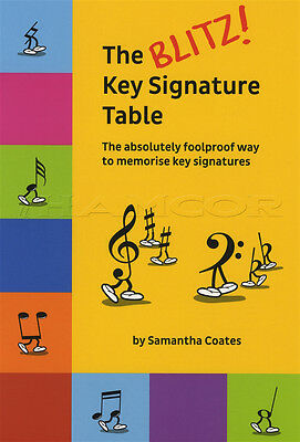 The Blitz Key Signature Table Theory Music Book by Samantha Coates