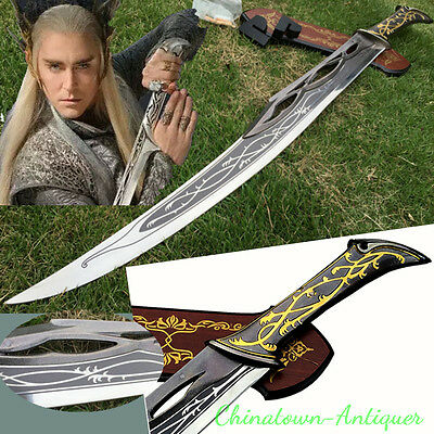 """37"""" LOTR Lord of the Rings Hobbit Elven King Dagger Sword Blade Cosplay #3834"""