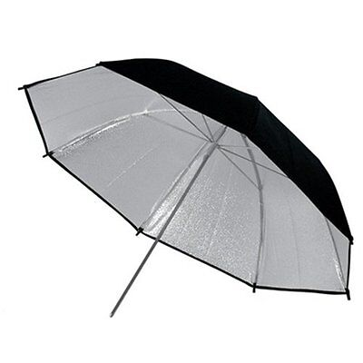 Black/Silver studio flash Umbrella 33in 83cm