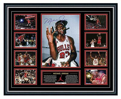 Michael Jordan Signed Limited Edition Memorabilia Framed