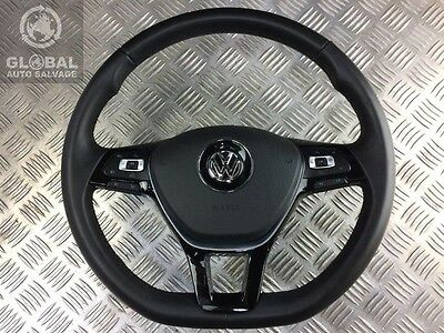 12-16 Vw Golf Mk7 Multifunction Flat Bottom Leather Steering Wheel With Airbag