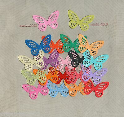 x20 Butterfly Punchies ~ Mixed Colours ~ Scrapbooking/Cardmaking