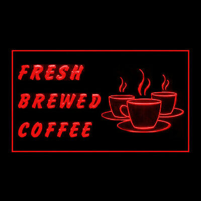 110259 Fresh Brewed Coffee Roasted Best Perfect Latte Espresso LED Light Sign