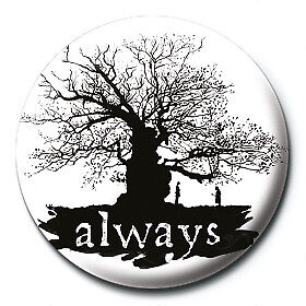 Harry Potter Pin Badge Button Brooch Always Professor Snape Tree Image Official