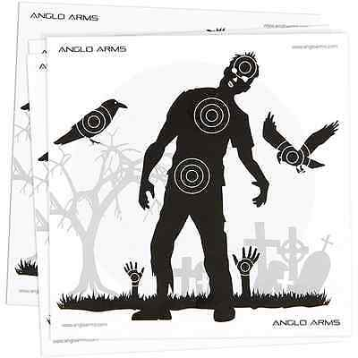 50 x Zombie Shooting Paper Practice Targets For Air Rifle BB Guns 14 x 14cm