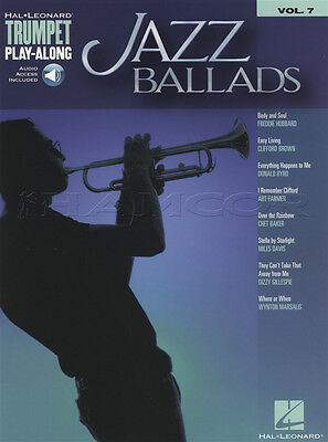 Jazz Ballads Trumpet Play-Along Sheet Music Book with Audio