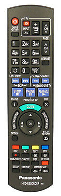 Genuine Remote For Panasonic DMR-HWT130 500GB Freeview+ HD Smart TV Recorder