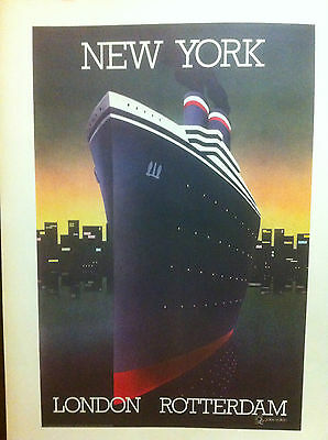 "SUPERBE AFFICHE NEW ART  en lithographie  ""New York Londres Amsterdam"" Année  80"