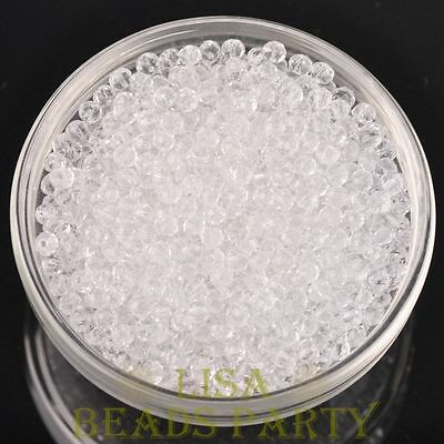 New 150pcs 3X2mm Crystal Glass Rondelle Faceted Loose Spacer Beads Clear